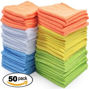 Pack of 50 Microfiber Cleaning Cloths