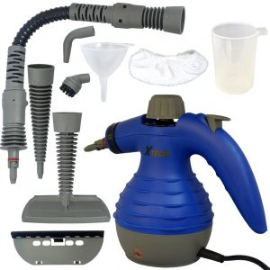 X Tech Electric Easy Handheld Steam Cleaner with 6 different attachments