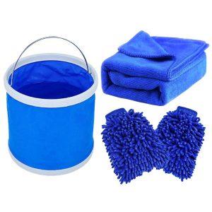 MicroCareful Premium Car Wash Mitt w/ free Towel and Duster