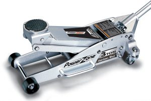Powerzone 380044 3 Tonne Aluminum and Steel Garage Jack
