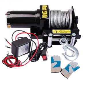 Yescom 2000 lb 0.9HP Electric Recovery Winch Free Gloves ATV UTV Jeep Trailer Truck 12V