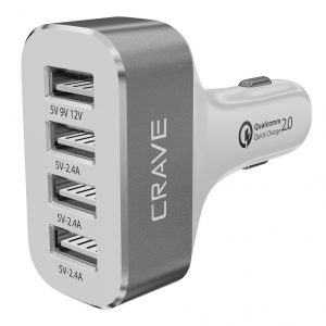 Crave CarHub 54W 4 Port USB Car Charger